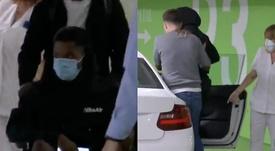 Ansu Fati left the hospital in a wheelchair. Screenshots/#Vamos