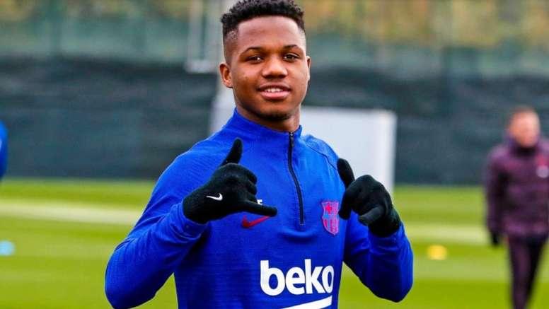 O Barça renovará o contrato de Ansu Fati. FCBarcelona