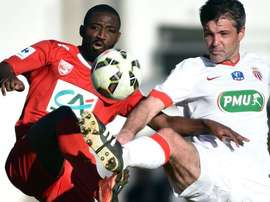 Anthony Koura (L) plays for Nïmes. Twitter