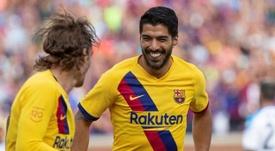 L'ancien agent de Griezmann a dévoilé les appels Suárez, Piqué et Messi pour le séduire. EFE