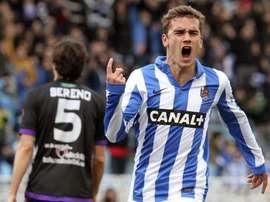 Antoine Griezmann morou com o colega quando chegou à Real Sociedad. EFE