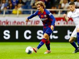 Griezmann debutó de azulgrana ante el Chelsea. FCBarcelona