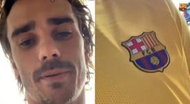 Griezmann est revenu sur son premier but catalan. Capturas/FCBarcelona