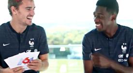 Antoine Griezmann y Ousmane Dembélé, en una entrevista para 6play. Captura/6play