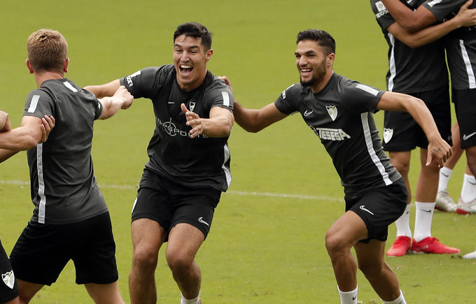 El Málaga se queda sin cinco jugadores. MálagaCF