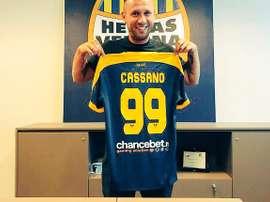 Cassano has left Hellas Verona but says he will not retire from football. HellasVerona