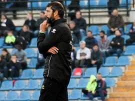 Antonio Moreno habló para los medios del club. Twitter/cfhercules