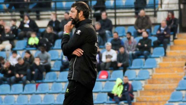 El técnico interino del Hércules no sabe cuánto tiempo seguirá en el banquillo. Twitter/cfhercules