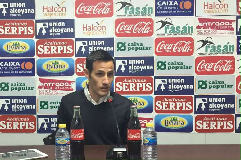 Antonio Navarro no cree que su expulsión fuera justa. Alcoyano