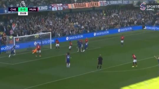 Pogba allowed Rudiger a free header to open the scoring. Screenshot/SportCanli