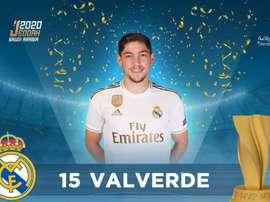 Valverde é eleito MVP apesar da sua entrada em Morata. Twitter/rfef