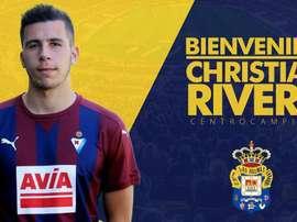 Christian Rivera ficha por Las Palmas. Twitter/UDLP_Oficial