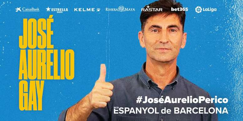 José Aurelio Gay, técnico del Espanyol B. RCDEspanyol