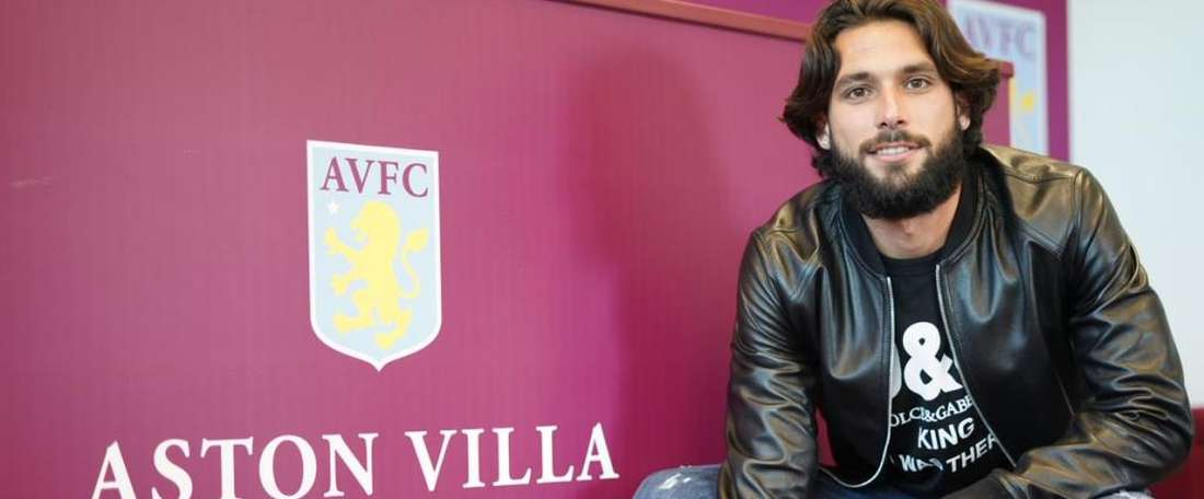 Jota signs for Aston Villa. AstonVilla