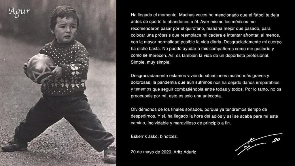 La légende espagnole de football, Aritz Aduriz raccroche à 39 ans — Officiel