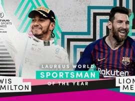 Messi, ganador del Premio Laureus de 2020. Twitter/LaureusSport