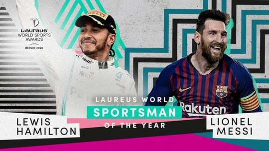 Messi, veinqueur du Prix Laureus du meilleur sportif de l'année. Twitter/LaureusSport