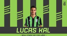 Lucas Kal, cedido al América Mineiro. AméricaMG
