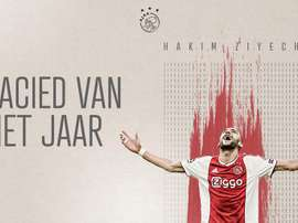 Hakim Ziyech was announced the best player of the Eredvisie season. Twitter/AFCAjax