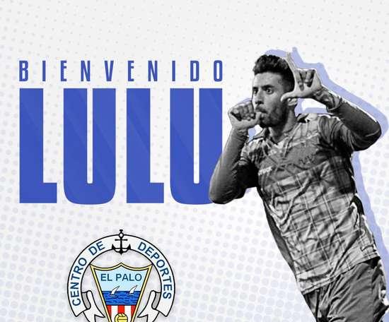 'Lulu' ya es jugador del CD El Palo. Twitter/cdelpalo
