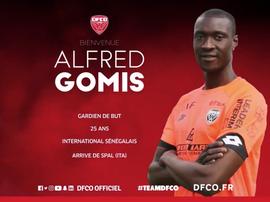 Dijon confirme l'arrivée d'Alfred Gomis. DijonFCO