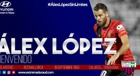 Álex López, cedido al Extremadura. ExtremaduraUD