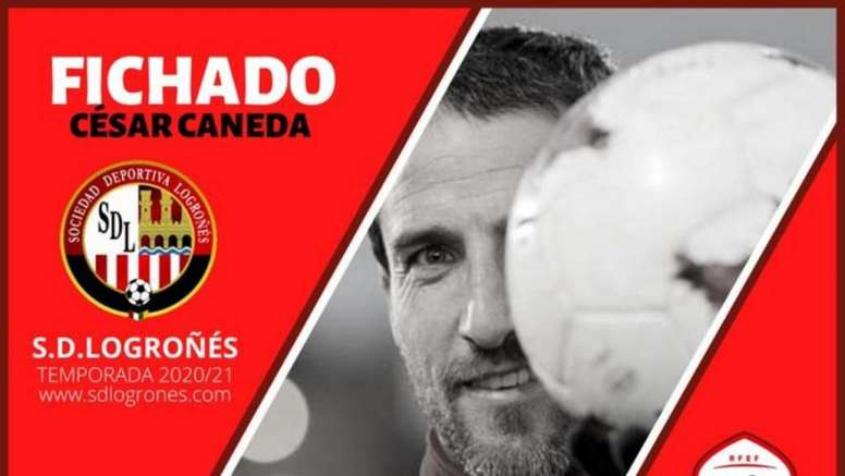 César Caneda seguirá su carrera en Logroño. Twitter/SDLogrones