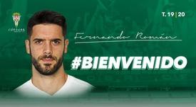 Fernando Román ya es del Córdoba. CordobaCF