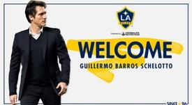 Schelotto è il nuovo allenatore de LA Galaxy. Twitter/LAGalaxy
