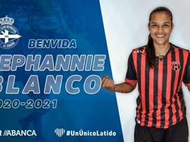 Stephannie Blanco, nuevo refuerzo del Deportivo Abanca. Twitter/RCDeportivo