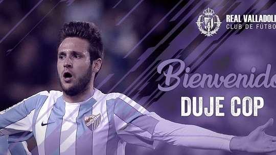 Duje Cop est un joueur de Valladolid. Twitter/Realvalladolid
