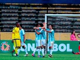 Argentina Sub-20 quer apressar suas opções. EFE