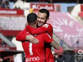 Budimir marcó el 2-0 con un penalti 'a lo Panenka'. LaLiga