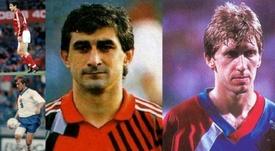 Andrei Piatnitsky y Ahrik Tsveiba, futbolistas que han jugado en cuatro selecciones diferentes.