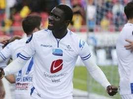 Aristide Diedhiou, en un partido con el Haugesund noruego. Twitter
