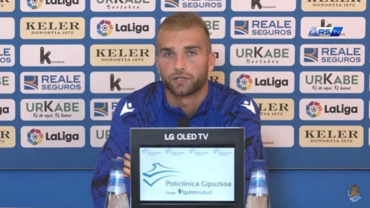 Arambarri fue inscrito en la lista de la Real para Europa League. Captura/Youtube/RealSociedadTV