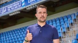 El técnico del Tenerife tuvo palabras para los dos futbolistas. CDTenerife