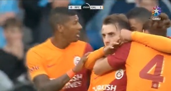 Arkurkoglu scored as Galatasaray drew 1-1. Screenshot/StarTV