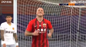 Arnautovic y Ricardo Lopes, goleadores en China. Captura/CCTV.