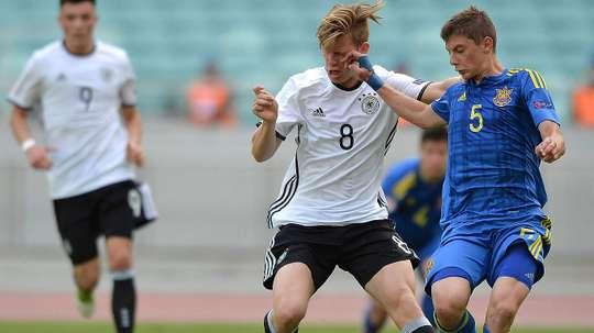 Arne Maier, jeune joueur du Hertha Berlin. DFB