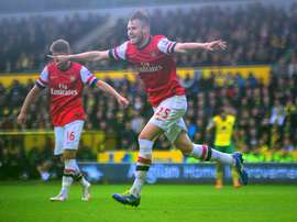 Arsenal defender Carl Jenkinson is working on his fitness after having surgery. ArsenalFC