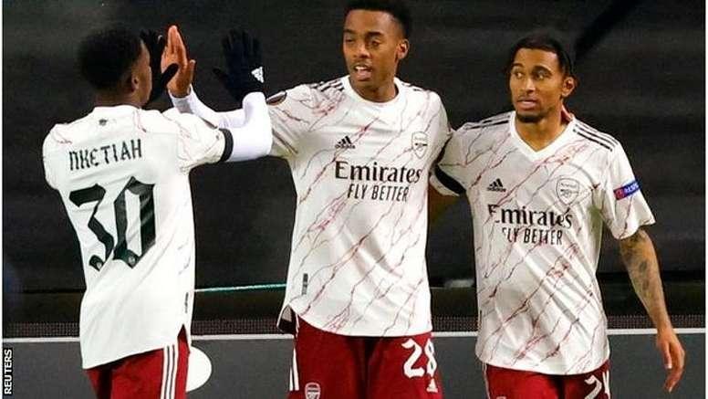 Arsenal beat Molde 3-0 nin Norway. AFP