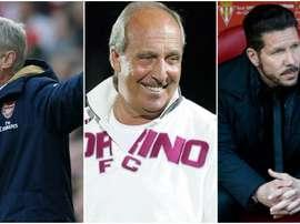 Arsène Wenger, Giampiero Ventura et Diego Pablo Simeone. BeSoccer