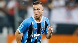 Arthur est heureux de rejoindre Barcelone. AFP