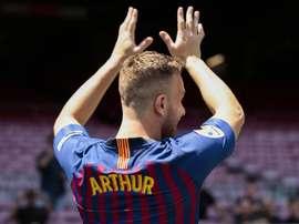 Arthur, déterminé à rester au Barça. Twitter/FCBarcelona