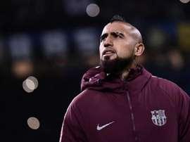 O United está disposto a pagar o preço por Vidal. AFP