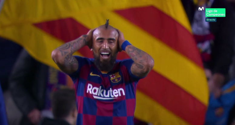 Vidal se defende de fake news. Captura/MovistarLigadeCampeones