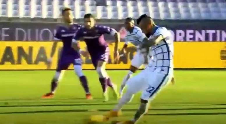 Así respondió Vidal a las críticas: se estrenó como goleador. Captura/DAZN