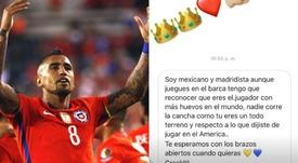 Arturo Vidal se deja querer por la afición del América. Instagram/Kingarturo23oficial
