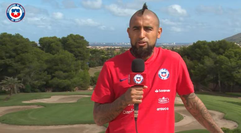 Arturo Vidal sorprendió con sus declaraciones sobre los Juegos Olímpicos. Twitter/LaRoja
